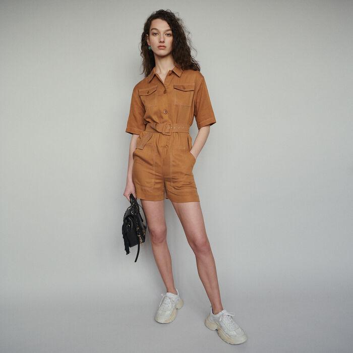 Combi-short chemise : Jupes & Shorts couleur Terracotta