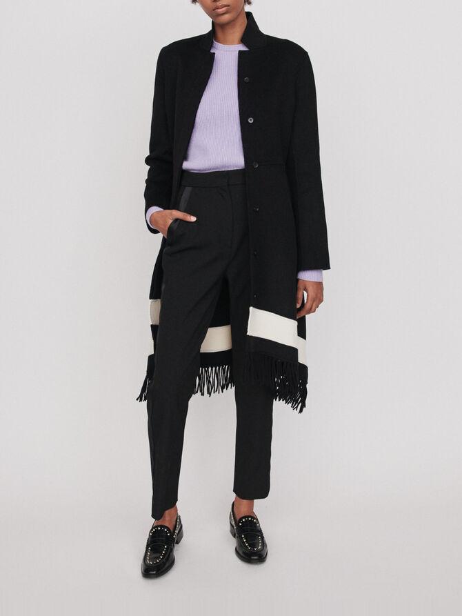 Manteau en double face à franges - Blousons & Vestes - MAJE