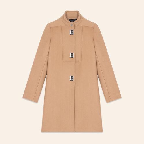 Manteau à fermoirs fantaisie - Manteaux - MAJE