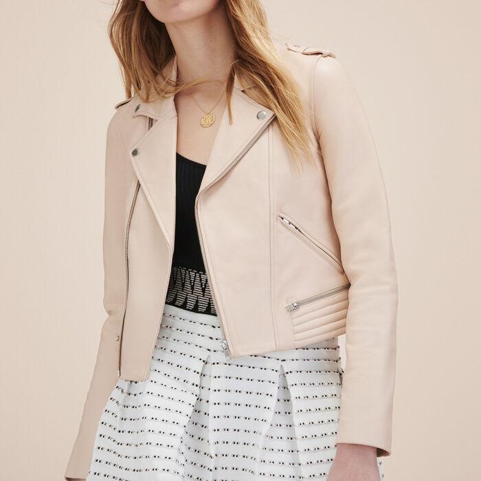 Blouson en cuir - Dress Code - MAJE