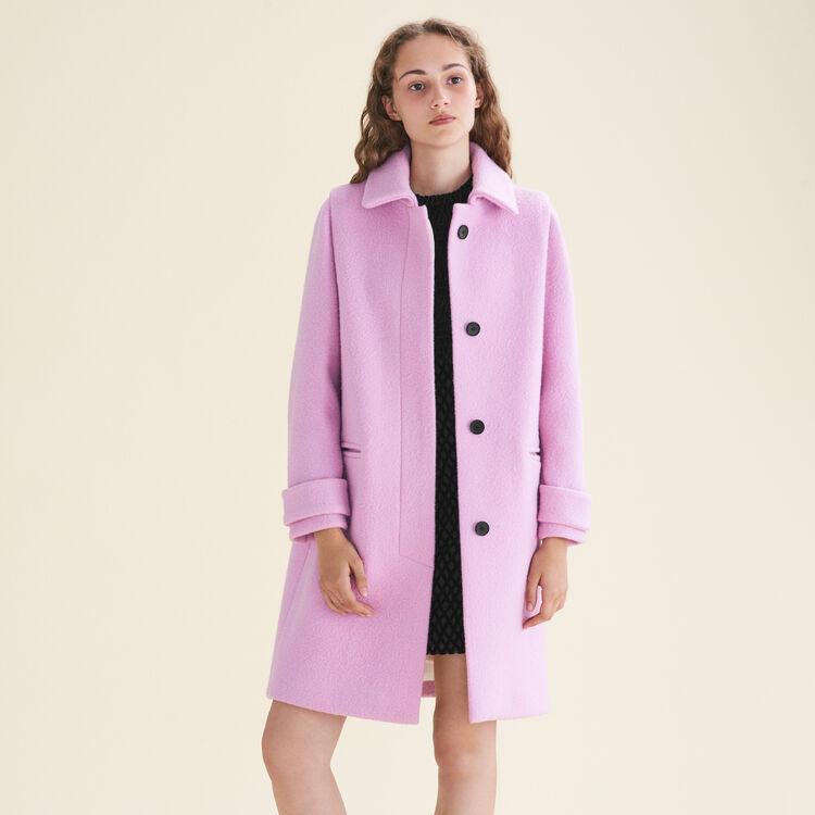 Manteau droit en laine vierge - Manteaux - MAJE