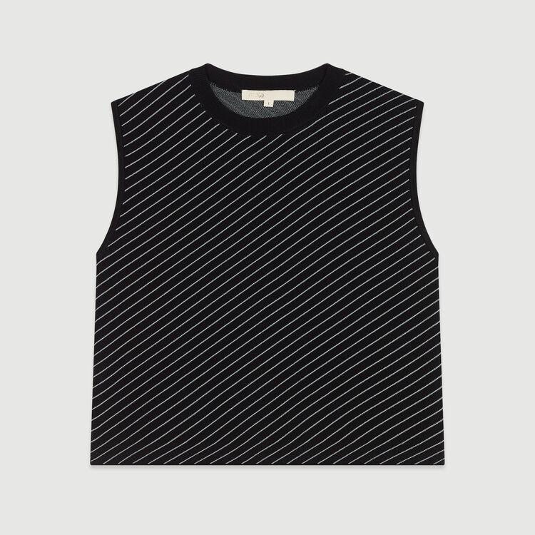 Pull sans manche à rayures : Pulls & Cardigans couleur Rayure