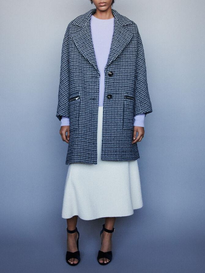 Manteau à carreaux et poches zippées - Manteaux & Blousons - MAJE