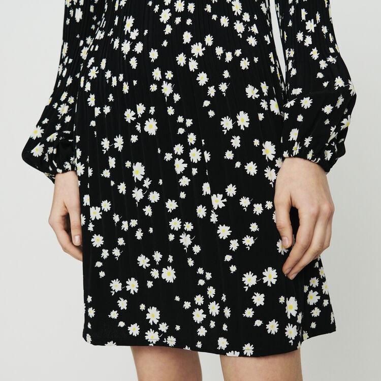 Robe plissée à imprimé marguerite : Robes couleur IMPRIME