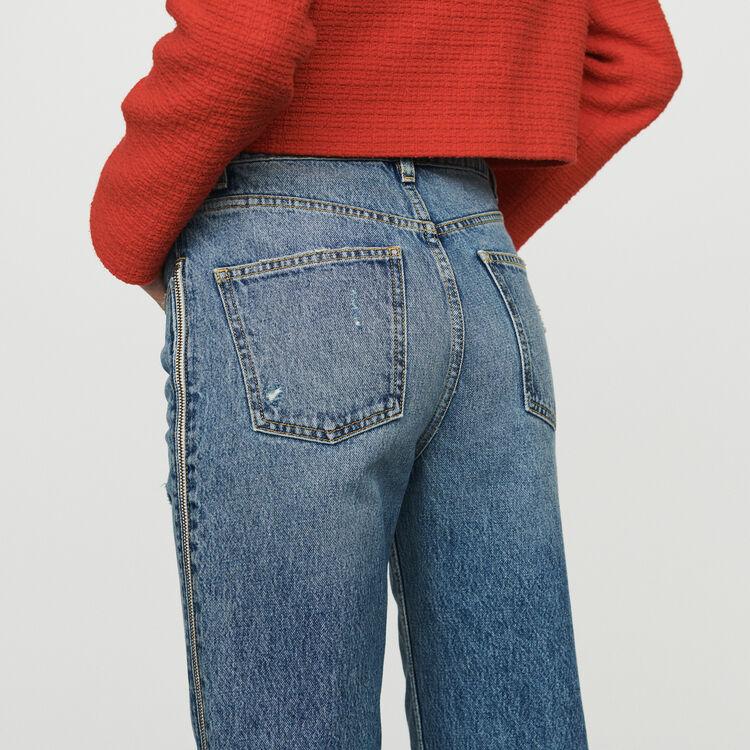 Jean avec zip : Pantalons & Jeans couleur Denim