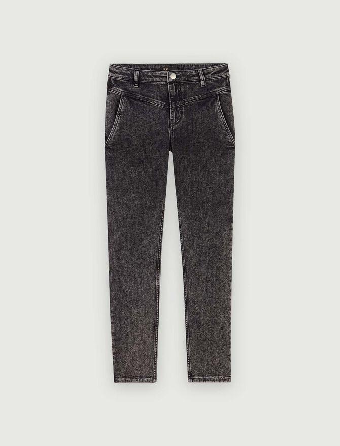 Jean droit à poches et découpes - Pantalons & Jeans - MAJE