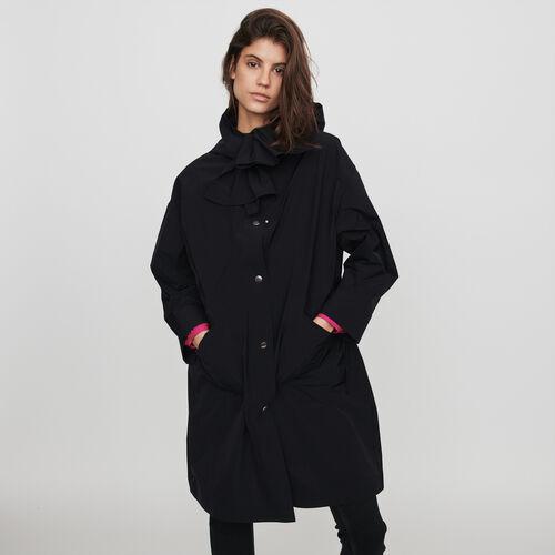 Parka façon coupe-vent à capuche : Manteaux & Blousons couleur Noir