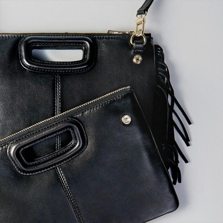 Pochette M Duo en cuir : M Duo couleur Noir