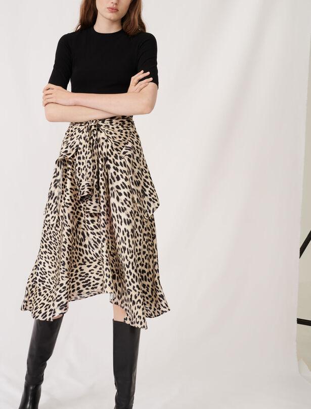 마쥬 투인원 레오파드 패턴 원피스 ('한번 다녀왔습니다' 이민정 착용) MAJE Robe en jersey et satin imprime,Leopard naturel