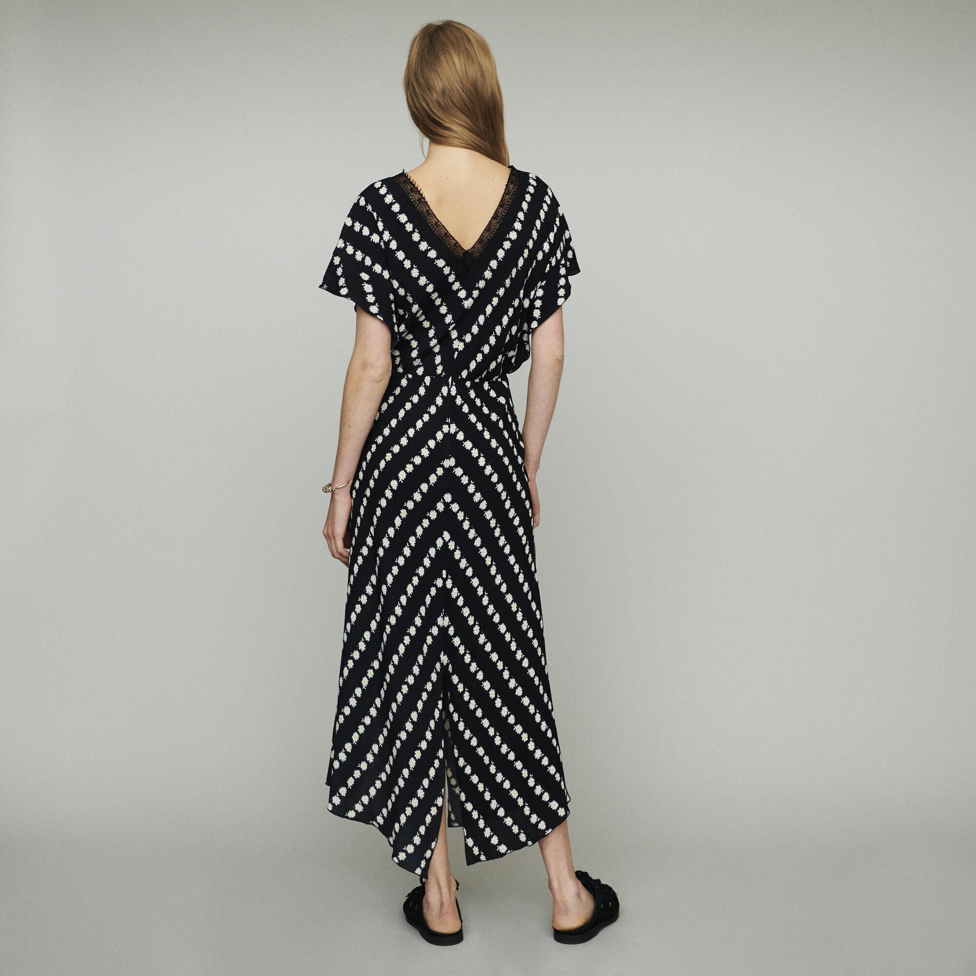 Robe Longue RobesMaje Imprimé Paris Marguerite Ritta À PXOTukZi