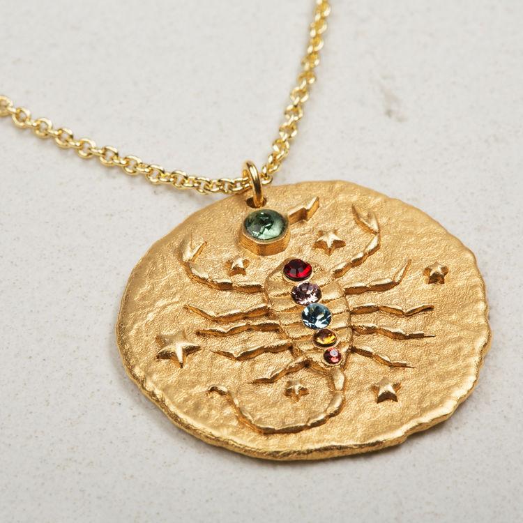Collier Scorpion signe du zodiaque : Bijoux couleur OR