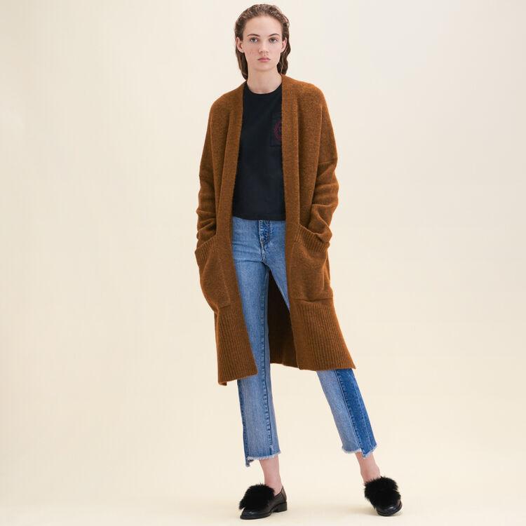 Cardigan long oversize : Pulls & Cardigans couleur Caramel