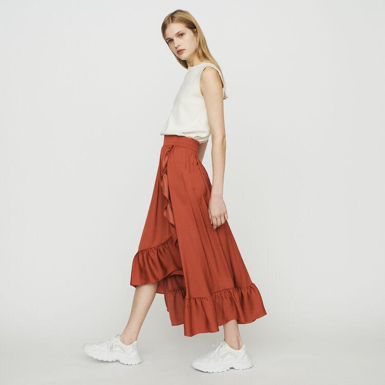 Jupe longue à volants : Jupes & Shorts couleur Terracotta