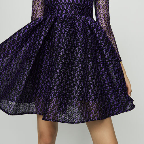 Robe patineuse en maille basket : Robes couleur Violet