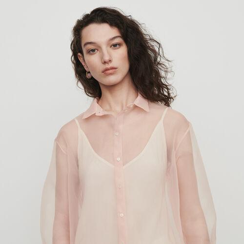 Chemise façon organza : Chemises couleur Mandarine