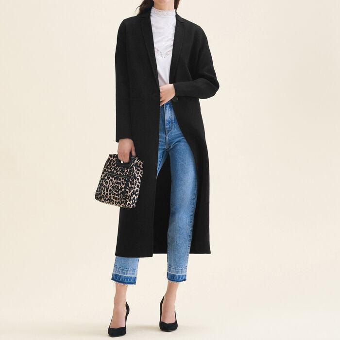 Manteau long en laine double face - Manteaux - MAJE