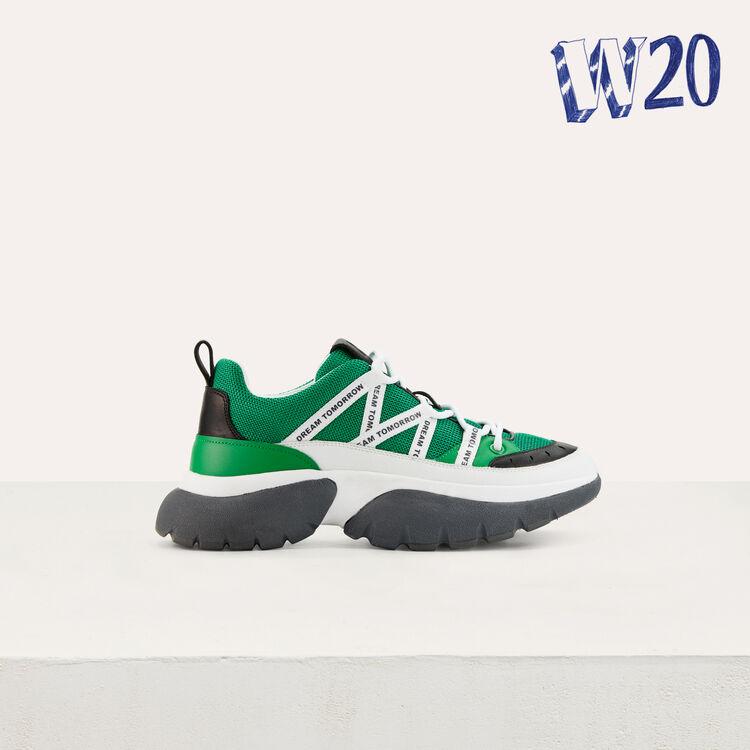Sneakers W20 urbaines en nylon : Tout voir couleur Vert