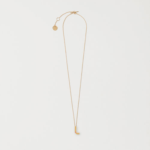 Collier avec pendentif initial : Bijoux couleur OR