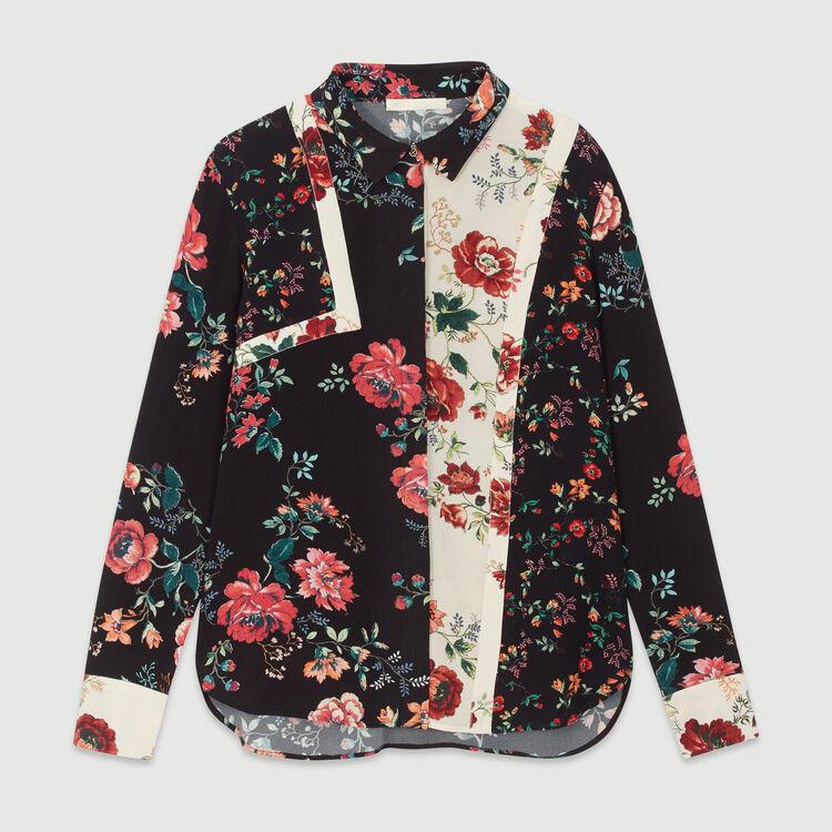 Chemise imprimée façon patchwork : Tops & Chemises couleur IMPRIME