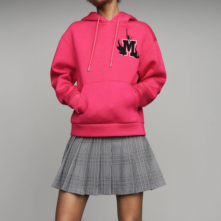 Sweat-shirt oversize à capuche : T-Shirts couleur Fushia
