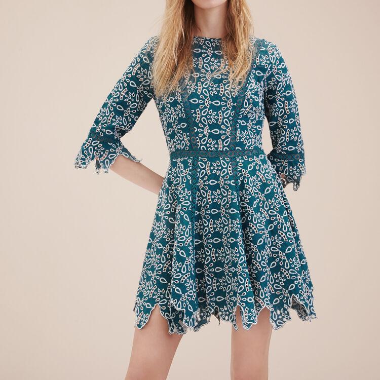 Robe courte en guipure - Robes - MAJE