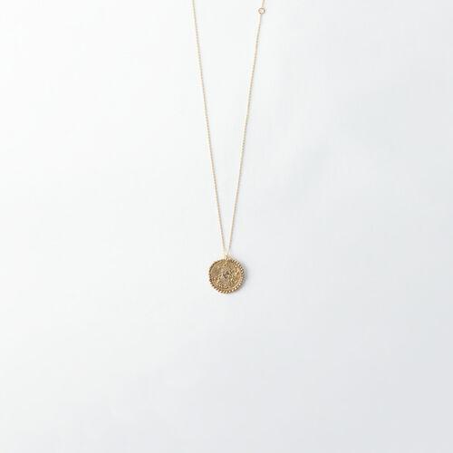 Collier Vierge signe du zodiaque : Tous les accessoires couleur Vieux Laiton