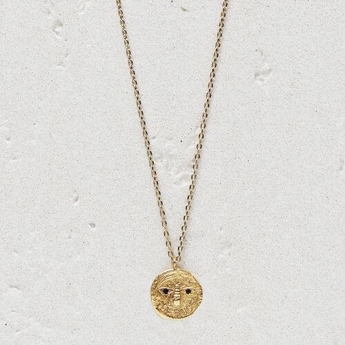 """Collier avec médaillon """"Ma puce"""" : Bijoux couleur OR"""