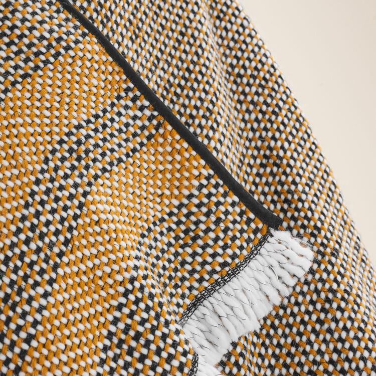 Poncho en maille fantaisie bicolore : Accessoires couleur JAUNE