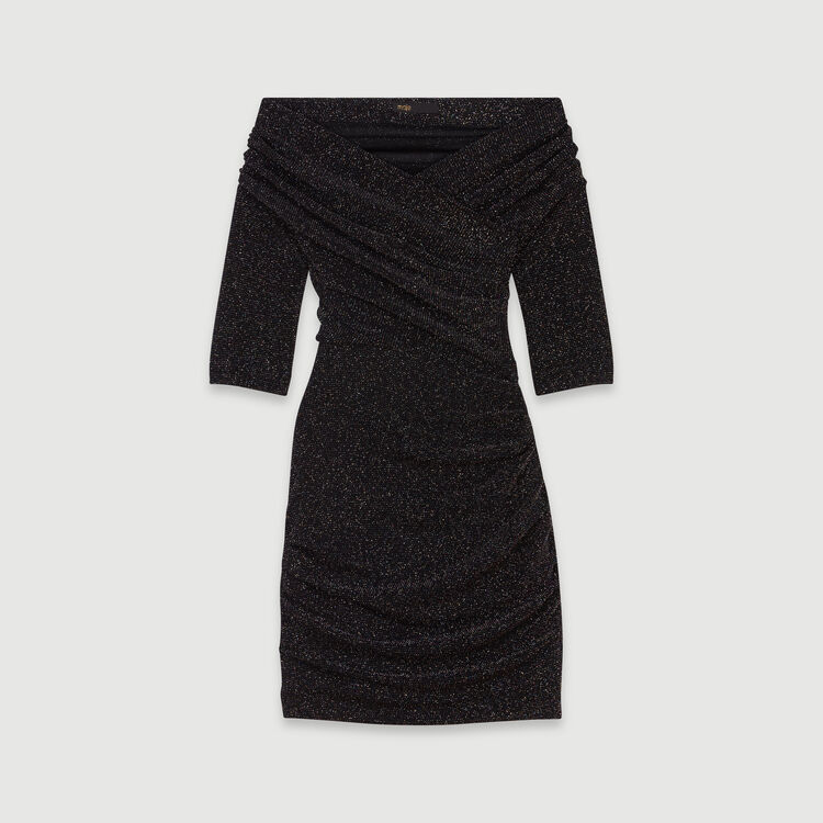 Robe drapée Stretch en Lurex : Robes couleur MULTICO