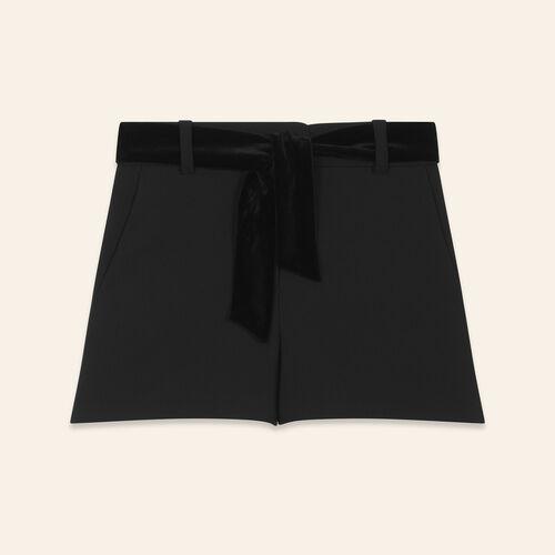 Short taille haute en crêpe - Jupes & Shorts - MAJE