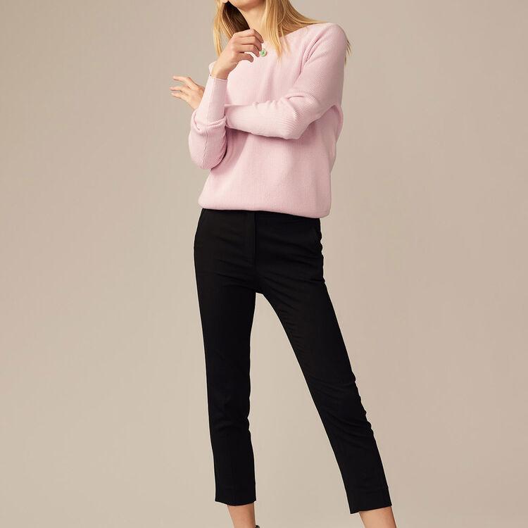 Pantalon droit en viscose - Pre-Collection - MAJE