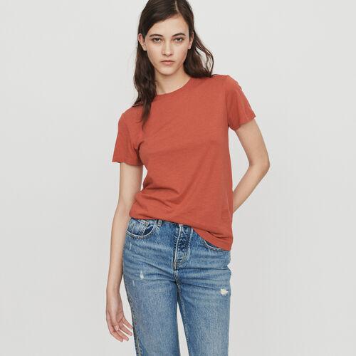 T-shirt manches courtes : T-Shirts couleur Terracotta