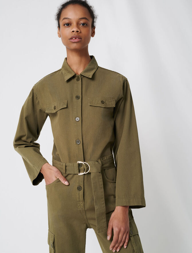 Combinaison workwear esprit army -  - MAJE