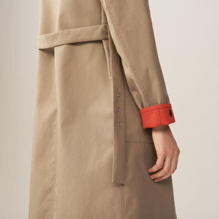Trench réversible bicolore : Manteaux couleur Beige