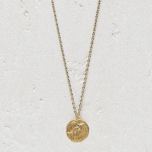 """Collier avec médaillon """"Ma poule"""" : Bijoux couleur OR"""