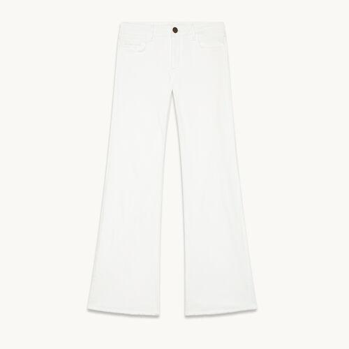 Jean flare en coton stretch - null - MAJE