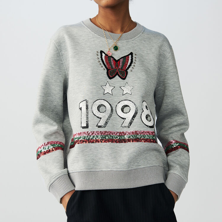 Sweat shirt 1998 : T-Shirts couleur Gris