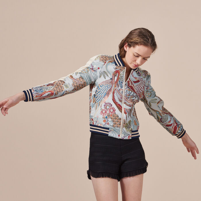 Bomber avec broderie chinoise - Best Sellers - MAJE