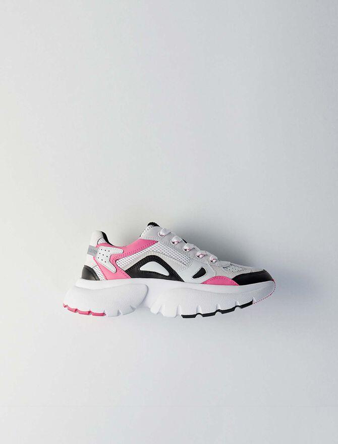 Sneakers W20 urbaines en cuir - Présoldes-Accessoires-BE - MAJE