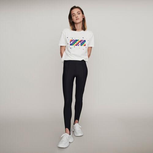 Pantalon façon fuseau Stretch : Collection hiver couleur Noir