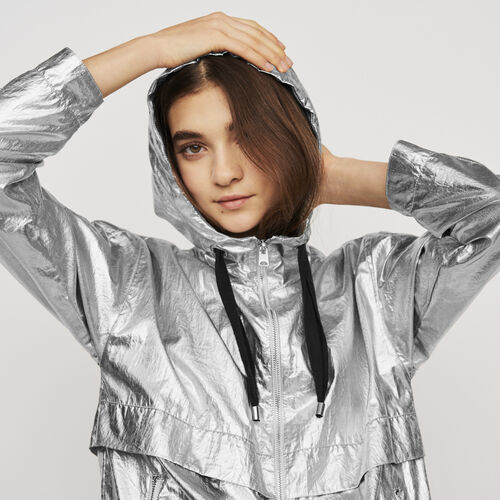 Manteaucoupe-vent à capuche : Manteaux & Blousons couleur Argent