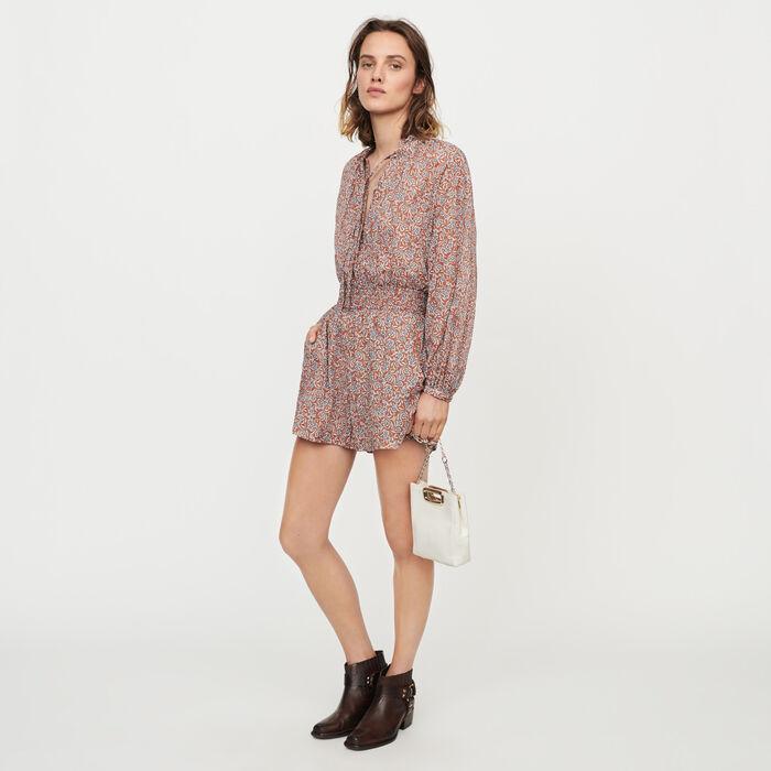 Combi-short à imprimé floral : Jupes & Shorts couleur Terracotta