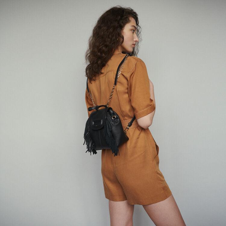 7767c245f6bd0 MBACKMINI - Sac à dos M Mini en cuir avec chaine - M Back | Maje Paris