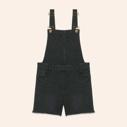 Salopette-short en denim - Jupes & Shorts - MAJE