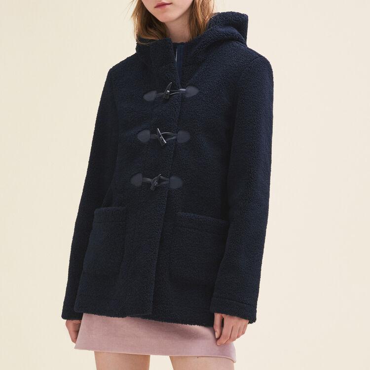 Duffle-coat en fausse fourrure : Manteaux couleur Marine