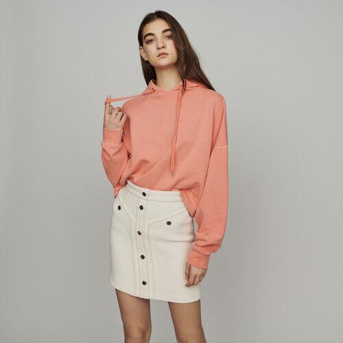 Jupe courte façon tweed : Jupes & Shorts couleur ECRU
