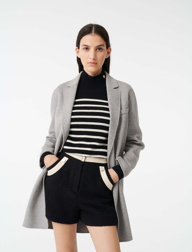 Manteau court en double face - Toute la collection - MAJE