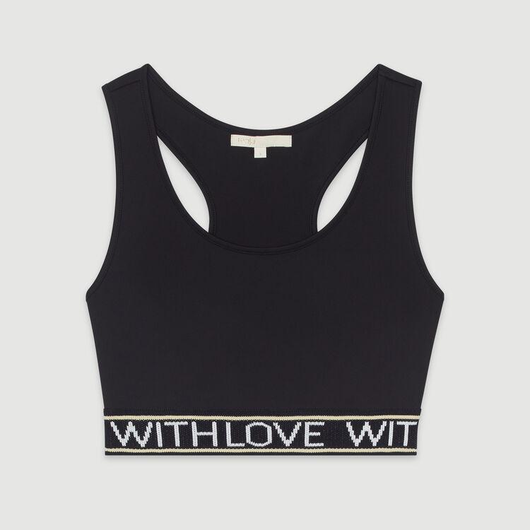 Brassière à bande à message : T-Shirts couleur Black