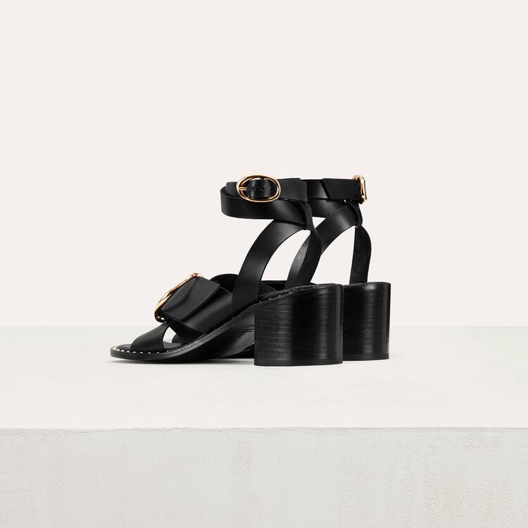 Sandale à talon avec boucle : Tout voir couleur Black