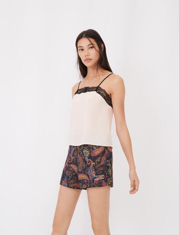 Kit pyjama imprimé à dentelles - éco-responsable - MAJE